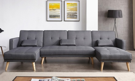 bis zu 43 rabatt modulares ecksofa schlafsofa groupon. Black Bedroom Furniture Sets. Home Design Ideas