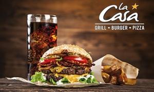 La Casa Grill - Mâcon: Burgers, pizzas ou planche avec dessert au choix pour 2 ou 4 personnes dès 19,90 €au restaurant La Casa Grill - Mâcon