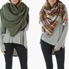 Sociology Women's Plaid or Solid Blanket Scarves