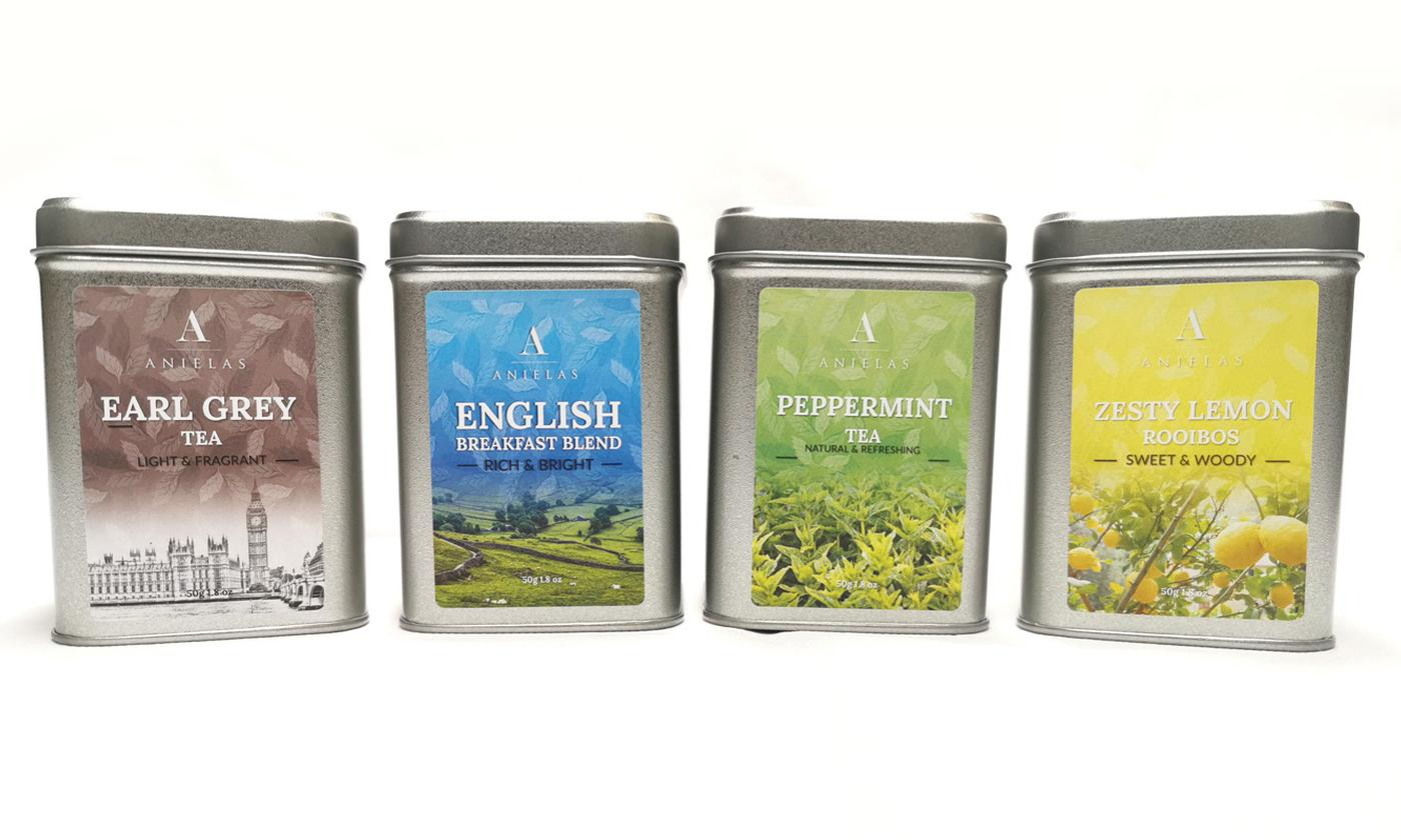 Four-Tin Tea Infusions Selection Gift Set