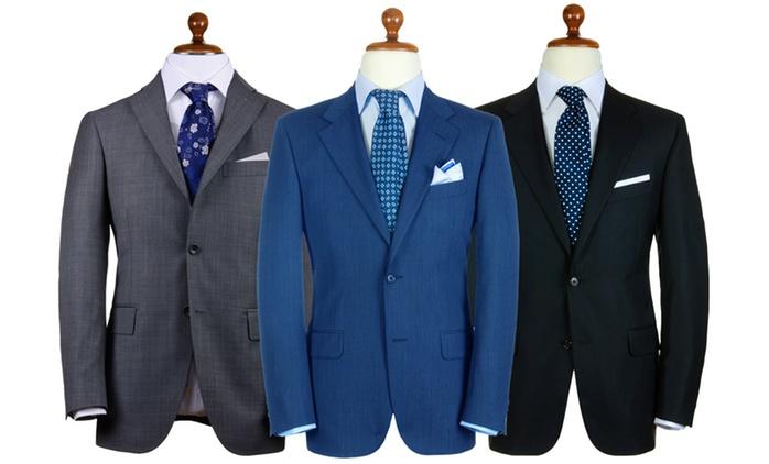 Abito sartoriale da uomo in lana tasmania disponibile in varie taglie e colori a 49,90 € (50% di sconto)