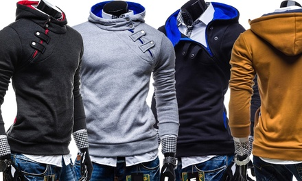 Suéter con capucha para hombre en color y talla a elegir