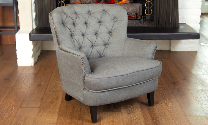 Alfred Tufted Club Chair Groupon Goods