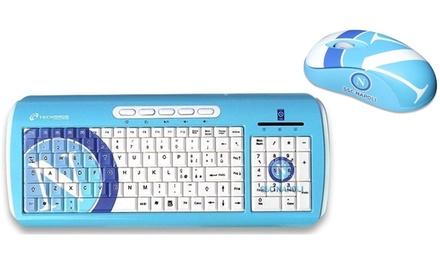 Tastiera multimediale e mouse ottico USB con licenza ufficiale S.S.C. Napoli Techmade