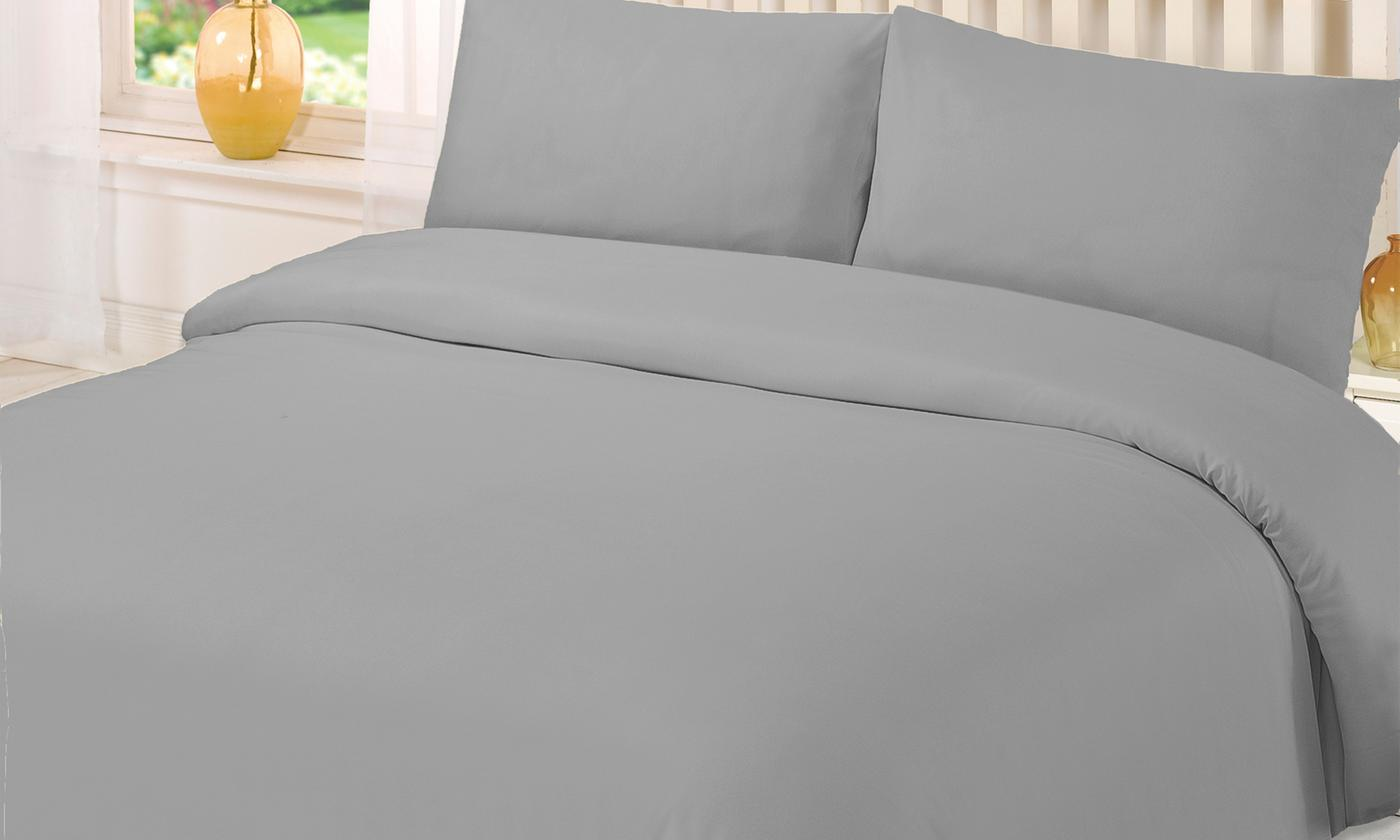 Plain Dye Microfibre Duvet Set for £10