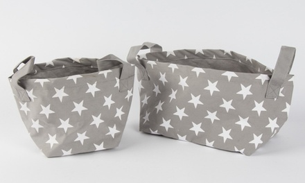 Set of Two Nordic Star Storage Baskets