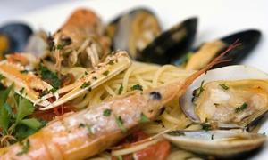 Farina del Nostro Sacco: Menu di pesce di 5 portate con vino per 2 o 4 persone da Farina del Nostro Sacco a Cervia (sconto fino a 70%)