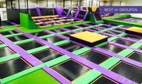 One- or Two-Hour Trampoline Park Open Jump Session for One, Two or Four at Jump Arena, Three Locations (Up to 40% Off)