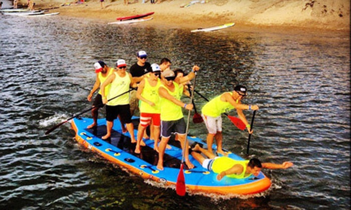 Pirate Coast Paddle Co. - Bayside: Standup-Paddleboard Rental for One or Two or a 10-Person-Paddleboard Rental from Pirate Coast Paddle Co. (Up to 53% Off)