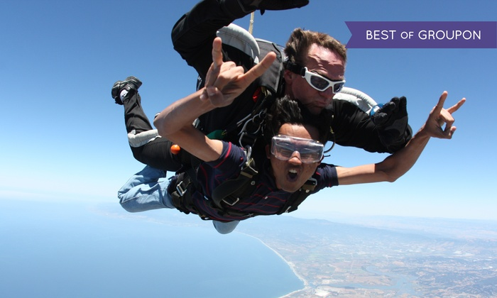 Skydive Monterey Bay - Marina: Weekday or Weekend VIP Tandem Jump for One, Two, or Four at Skydive Monterey Bay (Up to 37% Off)