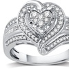 1/2 CTTW Diamond Heart-Shaped Ring in Sterling Silver by DeCarat