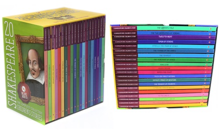 Shakespeare Childrens Stories 20-Books with Audio CD Gift Box Set