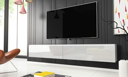 jusqu 39 56 meuble tv suspendu groupon. Black Bedroom Furniture Sets. Home Design Ideas