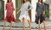 Asymmetrisches Kleid mit Polka-Dot-Muster