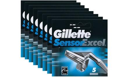 8 confezioni da 5 lamette Gillette SensorExcel