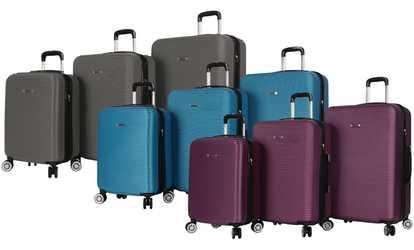 Shop Groupon Rosetti Loren Lightweight Hardside Dual-Wheel Luggage Set  (3-Piece) 8abf75bfbb