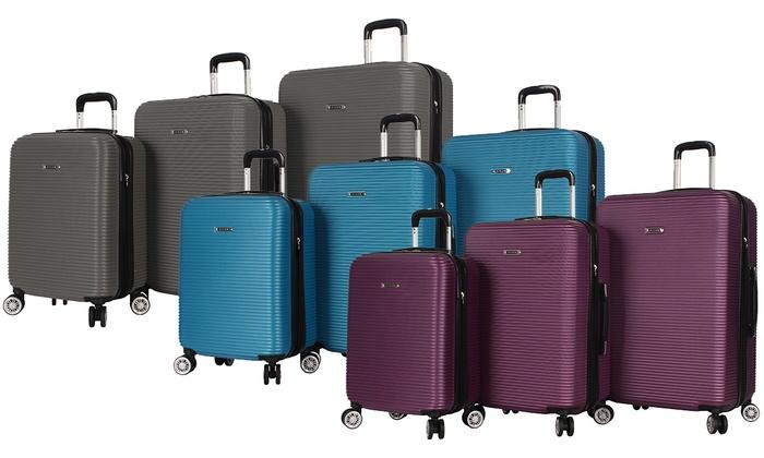 61d0d280c443 Rosetti Loren Lightweight Hardside Dual-Wheel Luggage Set (3-Piece ...