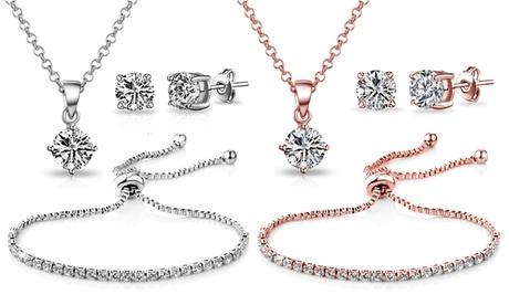 Set de joyas Philip Jones adornado con cristales Swarovski®
