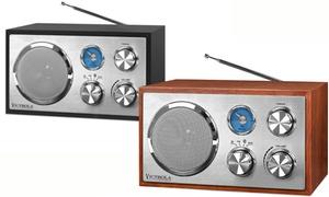 Victrola Wooden Desktop Bluetooth Radio