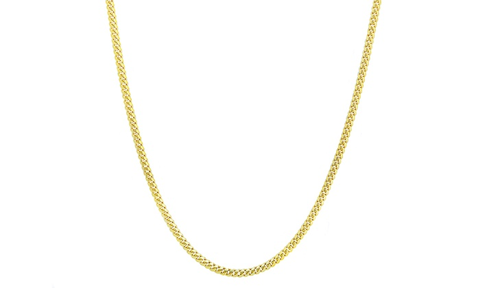 10kt Yellow Gold Pendant Rope Chain Necklace 0.75mm