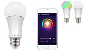 Smart WiFi-Controlled Dimmable Color-Changing Energy-Saving LED Bulb
