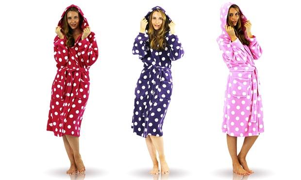 Ladies\' Polka Dot Dressing Gown | Groupon Goods
