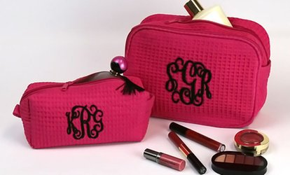 image for Personalized <strong>Cosmetic</strong> Bag or a Monogrammed Small or Large Makeup Bag from Monogram Online (Up to 67% Off)
