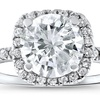 2 1/2 CTTW Diamond Engagement Ring in 14K Solid White Gold