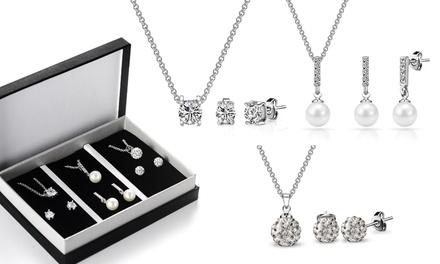 3 Set di gioielli Philip Jones con cristalli Swarovski®