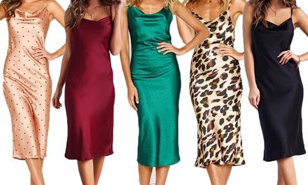 Satin Strappy Midi Dress: One $19 or Two $29