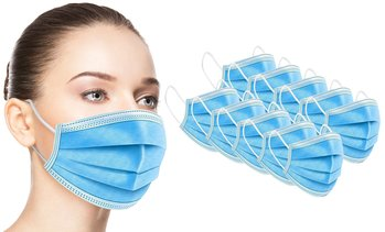 Warehouse Sale - Disposable Non-medical 3-Ply Face Masks (50-Pack)