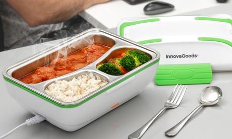 Fiambrera eléctrica InnovaGoods con 3 compartimientos