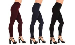 1 à 4 leggings doublés en polaire