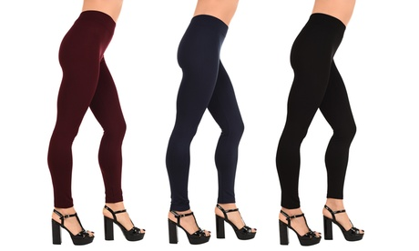 One or Two Pairs of Women's Fleece-Lined Leggings