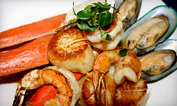 The Oar Steak & Seafood Grill - Patchogue: Three-Course Dinner for Two or Four at The Oar Steak & Seafood Grill (Up to 56% Off)
