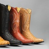 Men's Genuine Leather Exotic Print Western Cowboy Boots