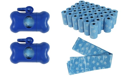 680 Pet Poop Bags with Two Dispensers in Choice of Colour