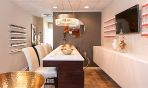 Simply Panache Nail Bar & Pedi Spa: $37 for Two Shellac Manicures at Simply Panache Nail Bar & Pedi Spa