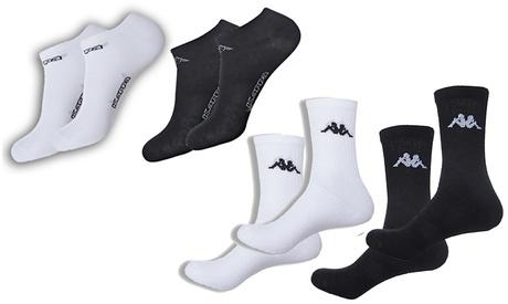 Packs de de 9 o 18 pares de calcetines de tenis o cortos Kappa