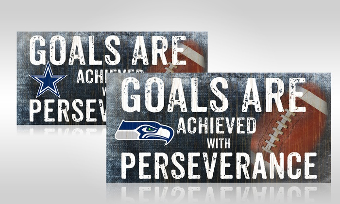"NFL 12""x6"" Motivational Sign: NFL 12""x6"" Motivational Sign"