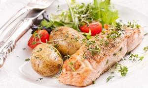 PANE E TULIPANI (ROMA): Cena di pesce con 4 portate e bottiglia di vino da Pane e Tulipani (sconto fino a 68%)