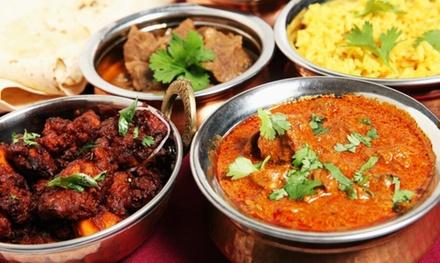Menú indio para 2 o 4 con entrante, principal, guarnición, bebida y postre o café desde 24,95 € en India Gate Boadilla