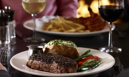 10oz Sirloin Steak Meal with Bottle of Wine to Share for Two or Four at the Lounge Bar And Kitchen