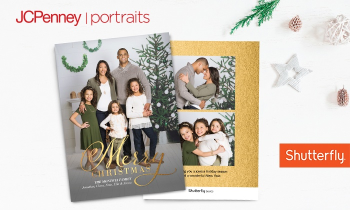 up to 81 off photo session holiday cardsjcpenney portraits - Jcpenney Christmas Decorations