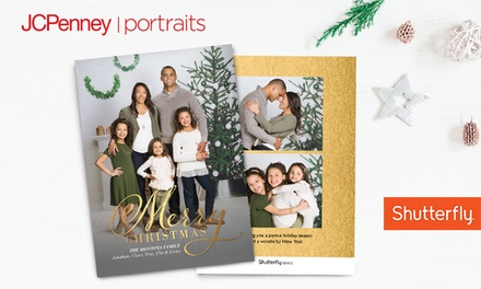 "Professional Photo Session with 24, 36, or 60 5""x7"" Premium Holiday Cards at JCPenney Portraits (Up to 81% Off)"