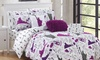 Paris or New York Travel-Themed Comforter Set (7- or 9-Piece)