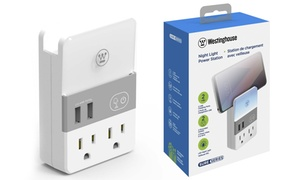 Westinghouse Plug-In Night Light Power Station with USB and AC Outlets