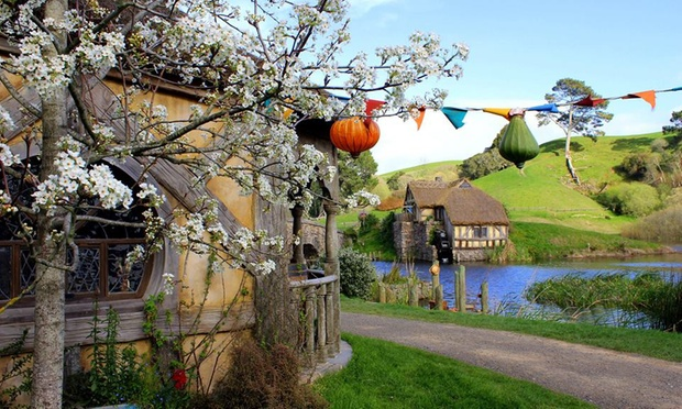 Waitomo Glowworm Cave + Hobbiton Tour for Adult ($399) or Child ($289) with Auckland and Beyond Tours (From $412 Value)