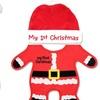 Infant Santa Bib and Cap Set