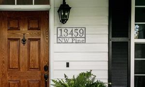 Custom Metal Home Address Plaque